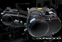 Engine. 90cc. 2 Valve. YX. Semi auto. Black All Up. N-1-2-3-4