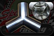 Stainless 304 exhaust/inlet pipe Y Piece OD 32mm - 63mm