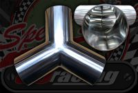 Stainless 304 exhaust/inlet pipe Y Piece 32mm - 63mm
