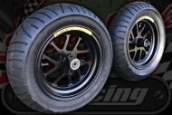 "Wheel kit MAG 10"" 130R 120F Metzeler ME17 tyres"