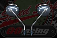 Mirror. Reproduction. BLACK OR CHROME FINISH Suitable for use as a standard replacement for Monkey and DAX bikes