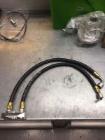 Oil cooler take off kit for cooler with AN6 take off high mounted