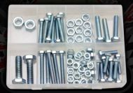 HEX BOLTS & NUTS PACK (75PCE)