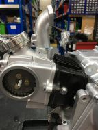 Inlet manifold, 22mm bore. 27-2ZL, overall height 90mm straight back.. with Vacuum take off