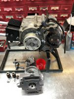 Honda C90 Race engine service PLOP Enduro