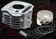Cylinder and piston kit. 52.4mm. Suitable for Madass 125cc
