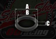 O ring. Seal. Head gasket oil feed. 6mm or 7mm type studs