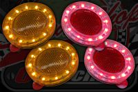 Reflector stick on with Halo LED ring RED or AMBER