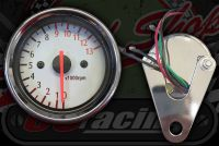 Clock. Rev counter. 60mm. White face. 0 - 13,000 rpm