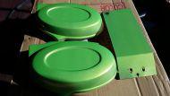 Side panels. Splash guard. Colour matched. Metallic green
