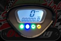 """Speedo. Digital Suitable for DAX 12V housing KMH or MPH option fixed ratio 10"""" stock wheels"""