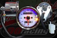 Clock. Speedo. 60mm. COLOUR OPTIONS warning lights. 160KM/H