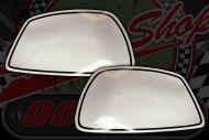 Tank badge. Side panel sticker. Gorilla silver. Pair.
