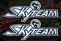 Tank badge. Sticker. Skyteam Monkey Black/silver.
