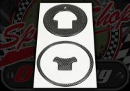 Sticker. Carbon look. Tank cap. Suitable for Honda MSX Grom. Decals