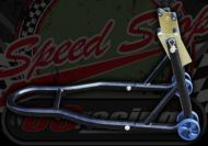 Tool. Paddock stand. Front and rear fitment. Ideal for Monkey or pit bikes