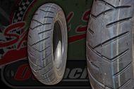 "Tyre. Pirelli. SL26. 100/80-10"" or 110/80-10""."