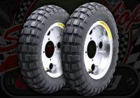 "Wheel. 8"". Pre built. Steel chrome with tyre. Stock 3.50 x 8 Lan YU Feng"