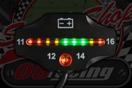 Battery indicator LED bar