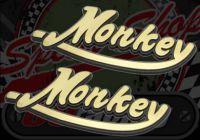Tank badge. Raised. Says 'Monkey'