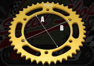 Sprocket. Rear. 420 or 428 pitch. 37T to 49T. Suitable for Madass 50cc type