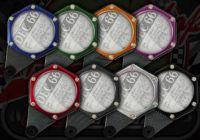 Tax disc holder Hexagon CNC multi coloured
