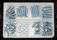 CSK MACHINE SCREWS & NUTS PACK (105PCE)