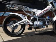Exhaust. Complete. Under seat performance system. Stainless steel construction. Suitable for use with Madass 125cc