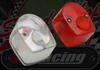 Rear light. Classic red or clear 12V