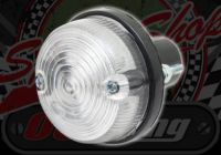 Rear light round flat Stop/Tail clear lens 12V LED