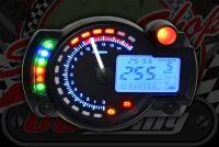 Speedo X40 MPH or KPH, rev counter, warning lights, clock, shift light, gear position indicator, Fuel gauge.