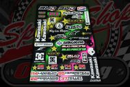 Sticker set. 41 Piece. 31cm x 44cm. Decal. Decals