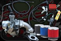 Rojo EFI conversion to carb upgrade for tuning 50cc Skyteam Monkey & DAX ST 28 to 40 MPH