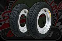 "Wheel kit. 12"" 3.00 DAX alloy rims. Choice of tyres."